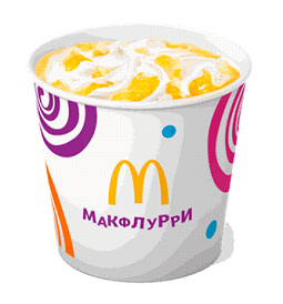 Макфлурри (сочный ананас)